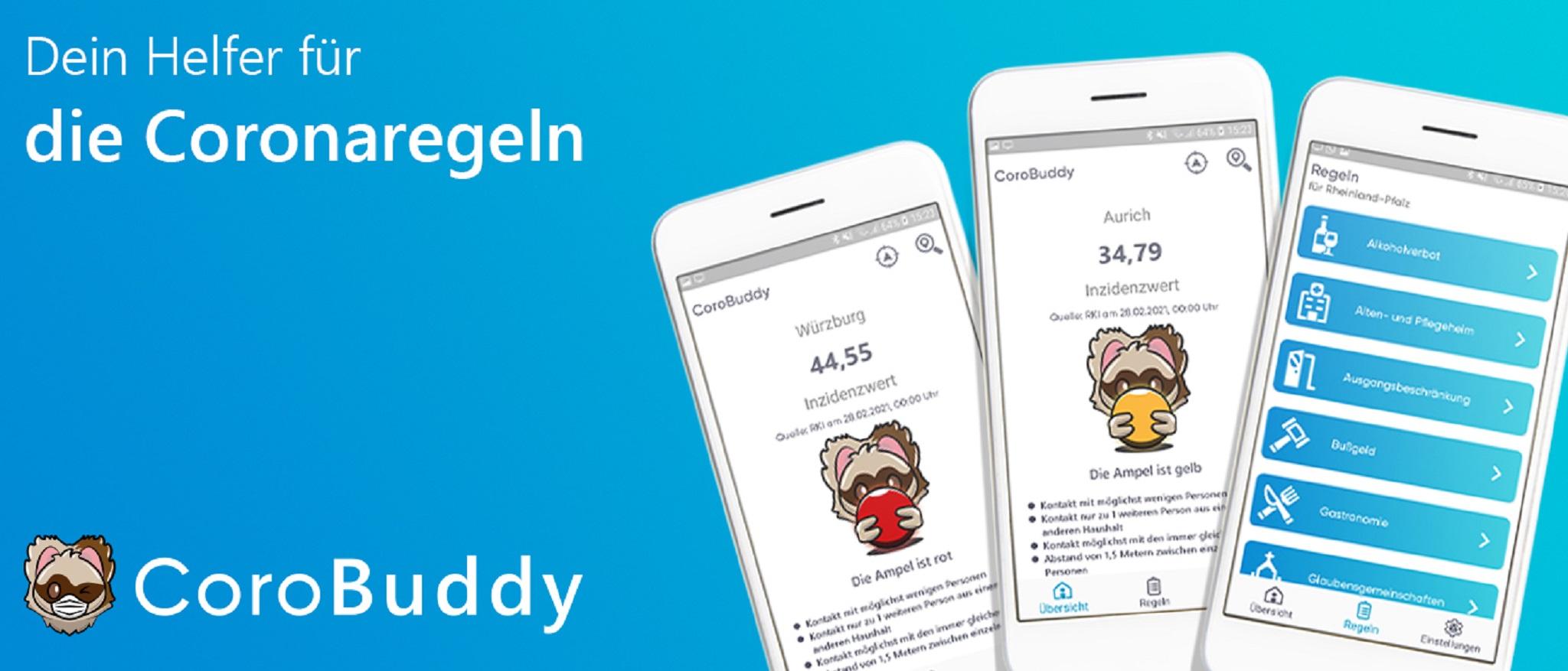 Einblicke in die App CoroBuddy. Foto: CoroBuddy