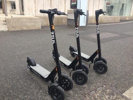 E-Scooter in Würzburg. Foto: Selina Dietrich