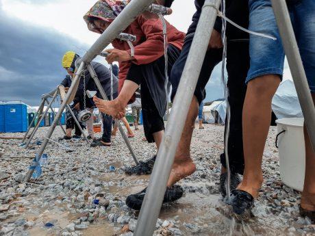Das Flüchtlingslager in Moria. Foto: Thessa Kraan
