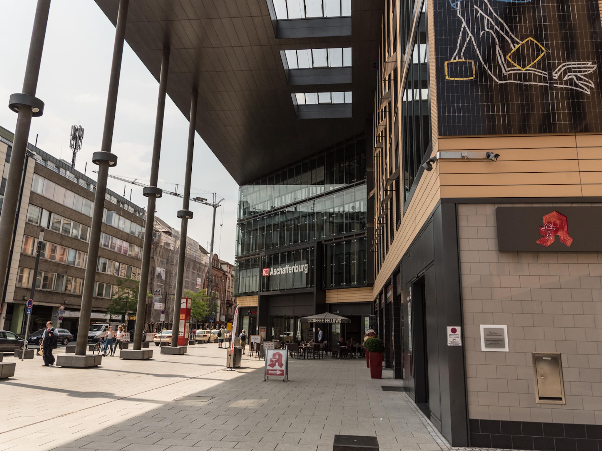 Der Hauptbahnhof in Aschaffenburg. Foto: Pascal Höfig