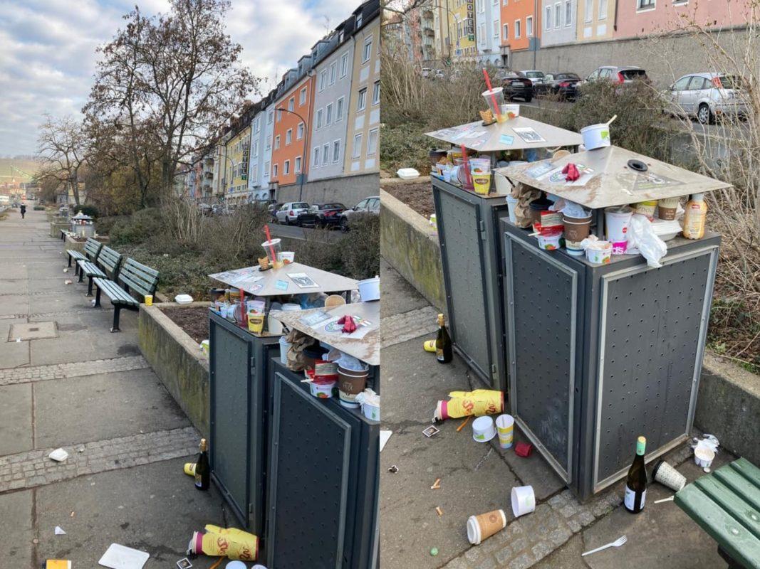 Müll am Mainufer. Fotos: Würzburg erleben