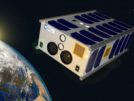 SONATE-2 im Orbit: Visualisierung des neuen Technologie-Erprobungssatelliten für hochautonome Nutzlasten und Künstliche Intelligenz. Bild: Hakan Kayal / Universität Würzburg