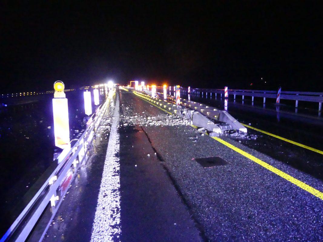 Unfallort auf der A3 bei Rüdenhausen. Foto: Polizei