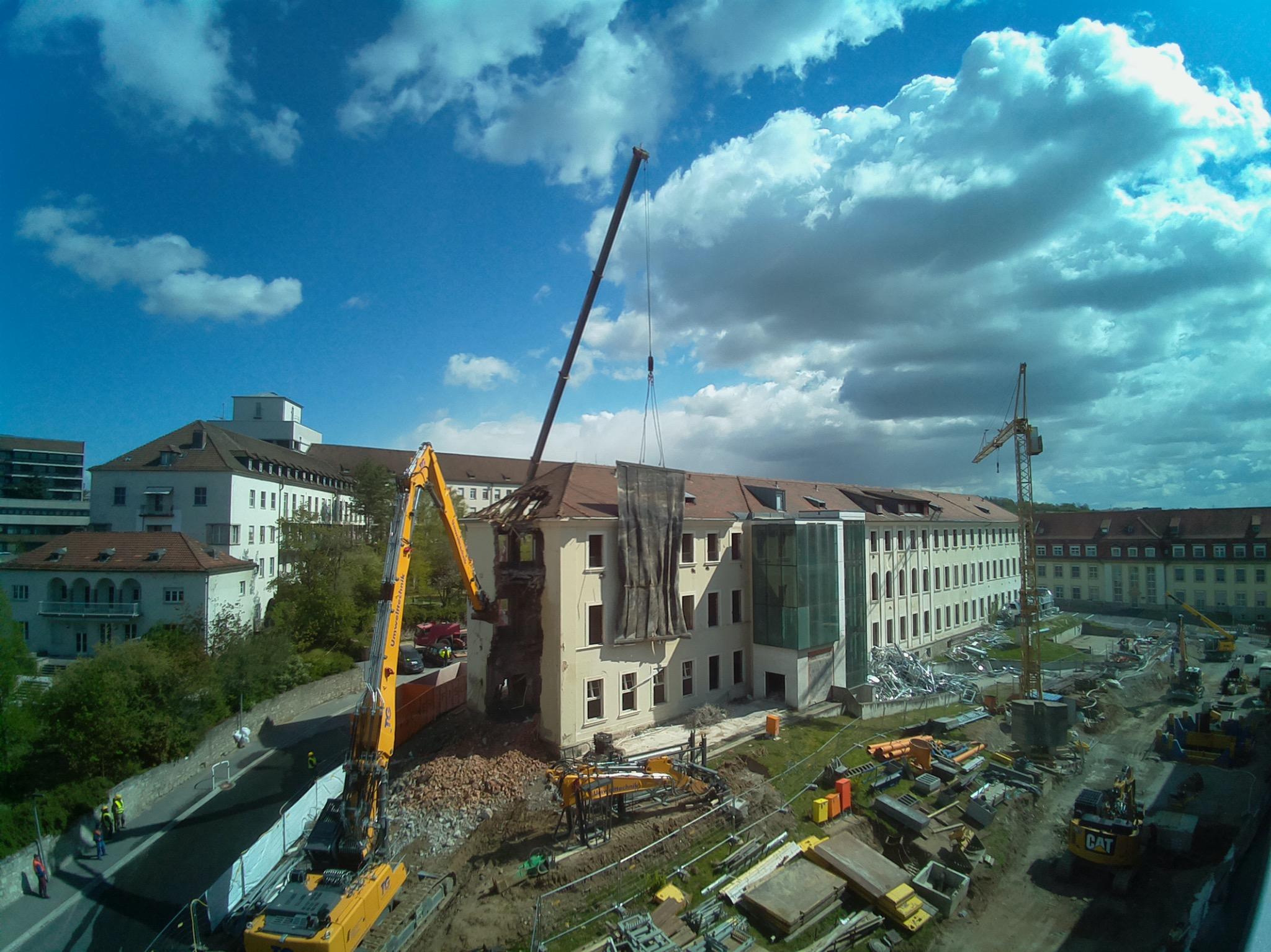 Abbruchbeginn Urologie. Foto: HIRI Würzburg