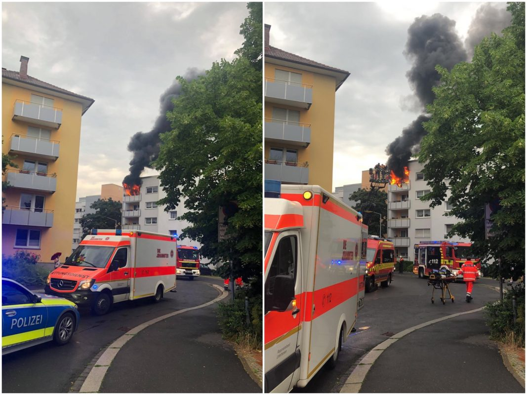 Balkonbrand in der Sanderau. Fotos: Manu Frenzel