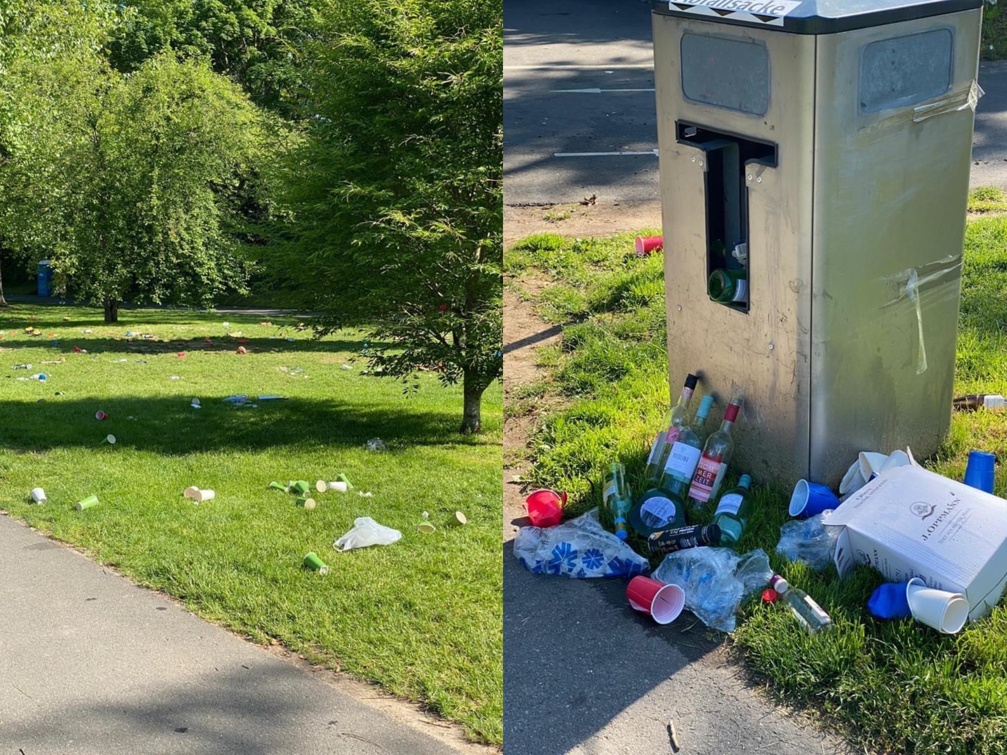 Durch die Partys steigt auch die Müllbelastung auf den Mainwiesen. Foto: Würzburg erleben