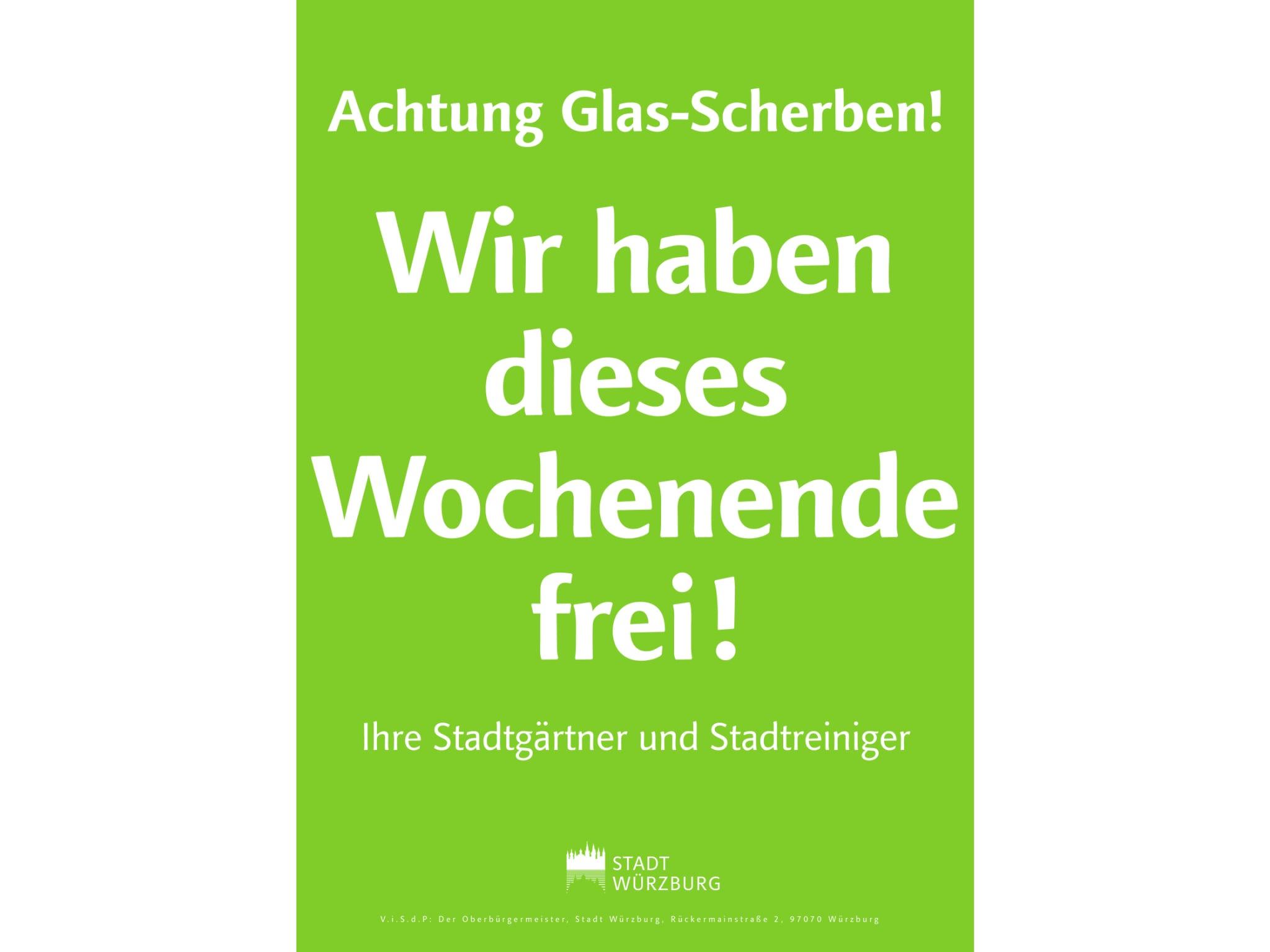 Neue Hinweisschilder für den Bereich Mainwiesen und Alter Kranen. Grafik: Stadt Würzburg