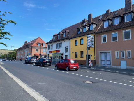 Die Saalgasse wird am 3. Juni zum Pop-Up-Fahrradweg. Foto: Katharina Kraus
