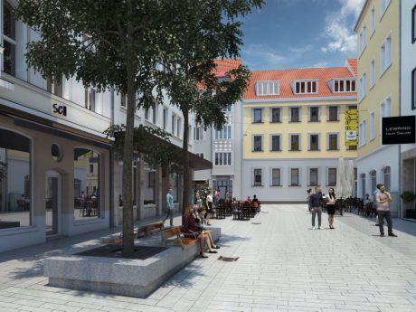Eine Visualisierung der Wilhelmstraße. Repro: Stadt Würzburg