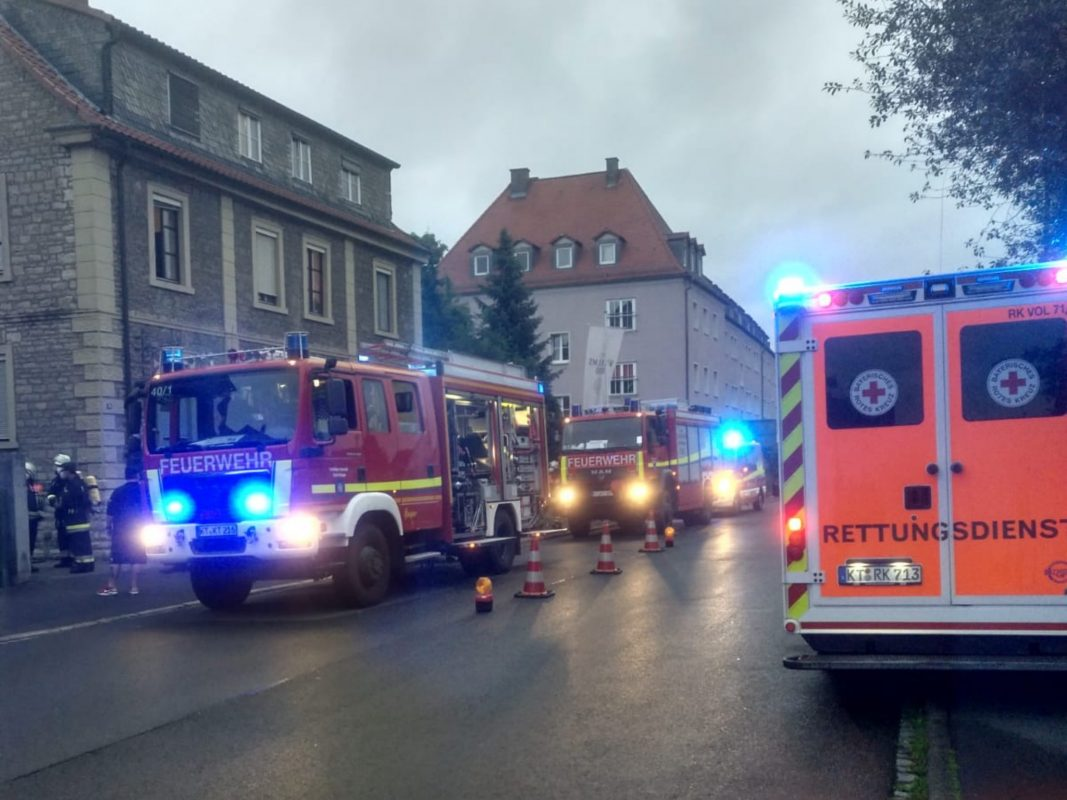 Am gestrigen Abend kam es zu einem Gefahrstoffaustritt im Kitzinger Stadtgebiet. Foto: Feuerwehr Kitzingen