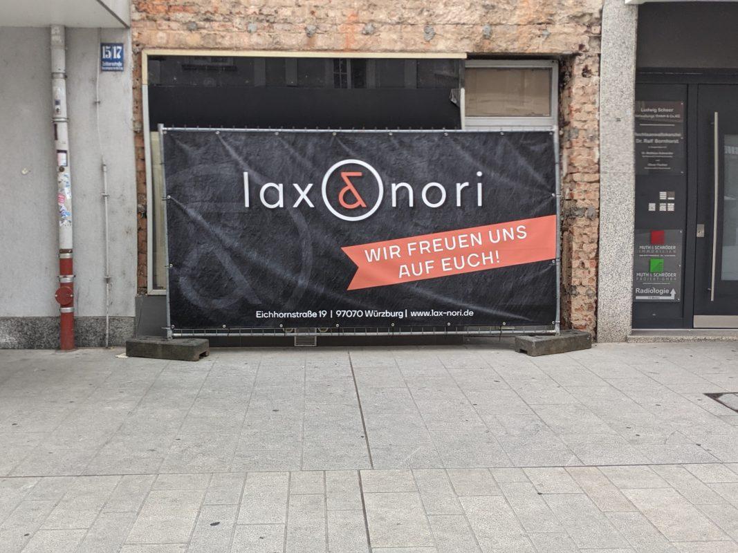 In der Eichhornstraße eröffnet ein neuer Sushiladen: Lax & Nori. Foto: Würzburg erleben