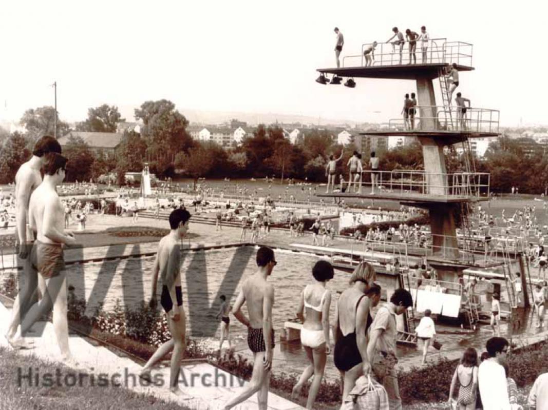 Das Dallenbergbad im Jahr 1970. Foto: Historisches Archiv der WVV.