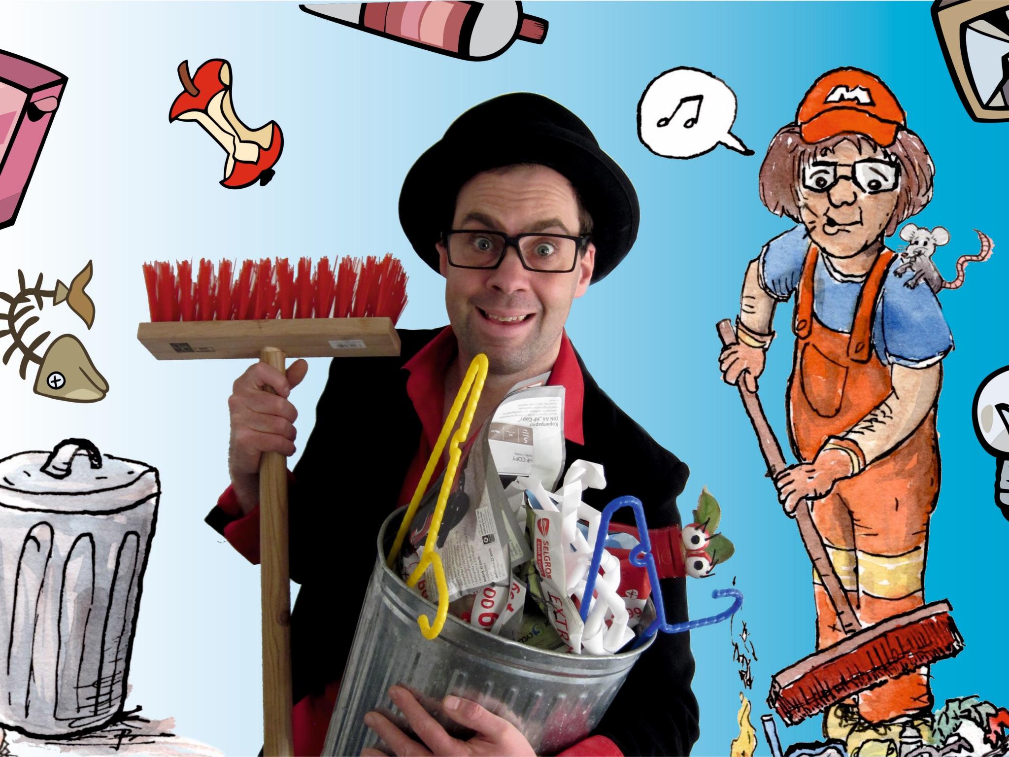 Zauberer ZaPPaloTT. Foto: C.Kirchner / Illustration M.Riecnecker