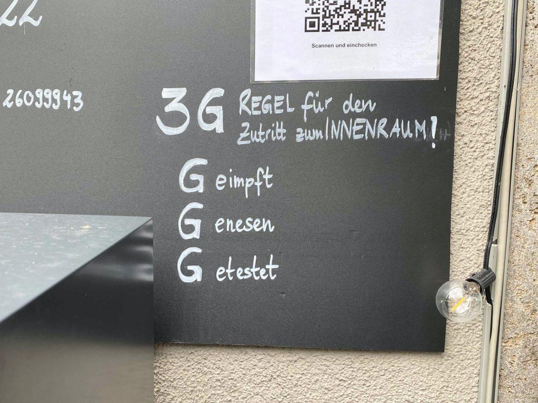 3G in der Gastronomie. Foto: Jessica Weiß