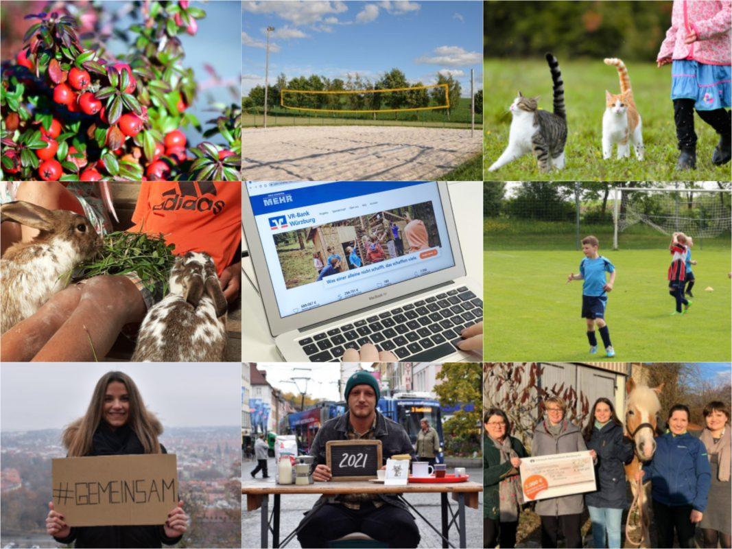 Zahlreiche Projekte finden Unterstützung dank der Spendenplattform der VR-Bank! Fotos: jew. Projekt / Papay Landois GmbH