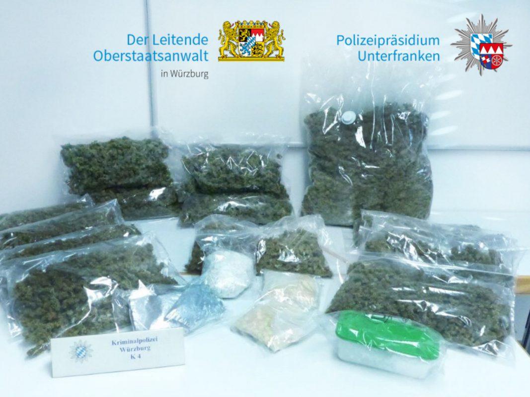 Neben Marihuana fand die Kriminalpolizei bei einem 33-Jährigen und seinen drei Komplizen noch andere Betäubungsmittel. Foto: Polizei