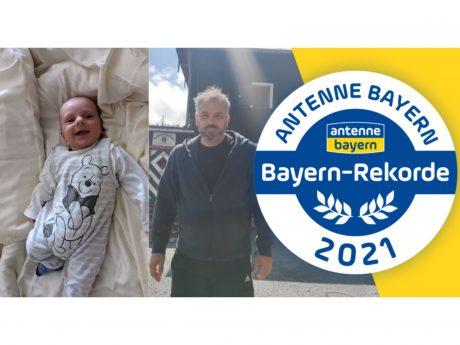 Thorsten Bäuerlein (rechts) und seinen Halbbruder Jonathan aus dem Landkreis Würzburg trennen in Sachen Alter fast 50 Jahre. Foto: Antenne Bayern