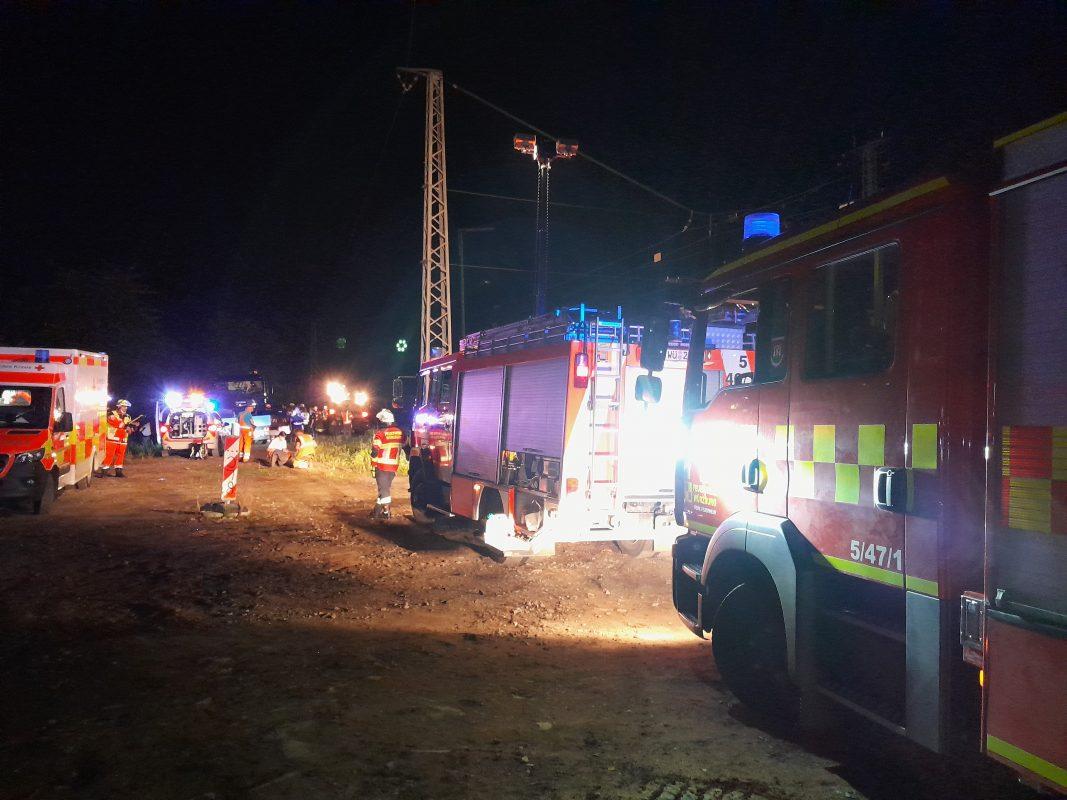Stromunfall bei Heidingsfeld. Foto: Stadt Würzburg, Amt für Zivil- und Brandschutz/Berufsfeuerwehr