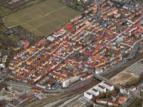 Luftbild des Stadtteils Grombühl. Foto: Hajo Dietz /Nürnberg-Luftbild